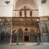 Iconostasis in Former Monastery of Apostolos Varnavas, St. Barnabas, North Cyprus Photographic Print by Christopher Rennie