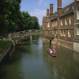 Queens College and Mathematical Bridge, Cambridge, Cambridgeshire, England, United Kingdom, Europe Photographic Print by Roy Rainford
