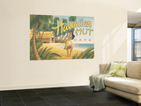 Hawaiian Hut Cafe Wall Mural