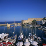 Boats in Harbour and Kyrenia Castle, Kyrenia, North Cyprus Photographic Print by Christopher Rennie