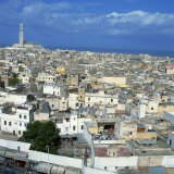 City Skyline Including the Hassan II Mosque, Casablanca, Morocco, North Africa, Africa, Photographic Print
