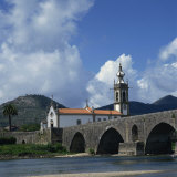Church and the Medieval Ponte De Lima, Minho, Portugal, Europe Photographic Print by Christopher Rennie