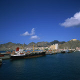 Mindelo, Sao Vicente Island, in the Republic of the Cape Verde Islands, Atlantic Photographic Print by Geoff Renner