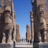 Porch of Xerxes, Persepolis, UNESCO World Heritage Site, Iran, Middle East Photographic Print by Robert Harding