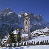 Church and Village of Colfosco, South Tirol, Trentino Alto Adige, Italy Photographic Print