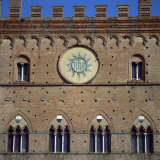 Bronze Panel Ihs, on the Wall of a Building in Siena, Tuscany, Italy Photographic Print by Tony Gervis