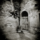 Corner of Quiet Square in Village of Lucignano D'Asso, Tuscany, Italy Photographic Print by Lee Frost