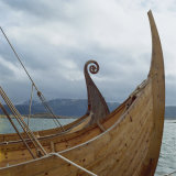 Replica Viking Ships, Oseberg and Gaia, Haholmen, West Norway, Norway, Scandinavia, Europe Photographic Print by David Lomax