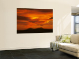 Brilliant Sunset over Spanish Peaks of Colorado Reproduction murale g&#233;ante