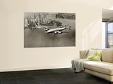 Lockheed Constellation survolant New York, 1950 Reproduction murale géante