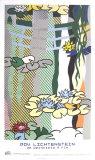 Nénuphars avec pont japonais Art par Roy Lichtenstein