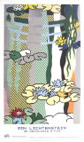 Water Lilies with Japanese Bridge Reproducción por Roy Lichtenstein