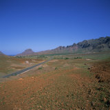 Road across a Volcanic Crater, Island of Sao Vicente, Republic of Cape Verde Islands, Atlantic Photographic Print by Geoff Renner