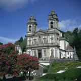 18th Century Bom Jesus Do Monte Church in the City of Braga in the Minho Region, Portugal Photographic Print by Christopher Rennie