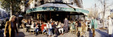 Group of People at a Sidewalk Cafe, Les Deux Magots, Saint-Germain-Des-Pres Quarter, Paris, France Photographic Print by  Panoramic Images