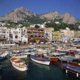 Boats Moored in the Marina Grande, Capri, Campania, Italy, Europe Photographic Print by Roy Rainford