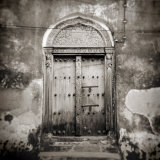 Old Omani Studded Timber Door, Stonetown, Zanzibar, Tanzania, East Africa Photographic Print by Lee Frost
