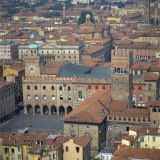 Aerial View over Central Bologna, Emilia-Romagna, Italy, Europe Photographic Print by Tony Gervis