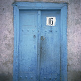 Blue Door in the Jewish Quarter of the City of Bukhara, Uzbekistan, Central Asia Photographic Print by Christopher Rennie