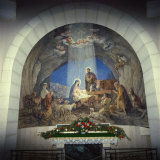 Interior of Church with Nativity Scene, Israel, Middle East Photographic Print by Robert Harding