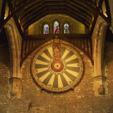 King Arthur's Round Table Mounted on Wall of Castle Hall, Winchester, England, United Kingdom Photographic Print by Roy Rainford