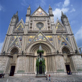 13th Century Duomo in the Town of Orvieto in Umbria, Italy, Europe Photographic Print by Tony Gervis