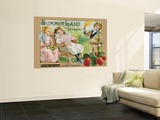 "Crate Label ""Strawberry"" Wall Mural"