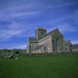 Abbey on Iona, Scotland, United Kingdom, Europe Photographic Print by Geoff Renner