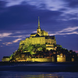 Mont St. Michel, Illuminated at Dusk, La Manche Region, Basse-Normandie, France Photographic Print by Roy Rainford
