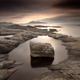 Erratic in Tidal Pool on Isle of Taransay, South Harris, Outer Hebrides, Scotland, UK Photographic Print by Lee Frost