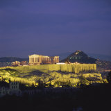 Parthenon and the Acropolis at Night, UNESCO World Heritage Site, Athens, Greece, Europe Photographic Print by Roy Rainford