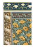 Poppies Wallpaper, Chromo-Lithograph, London, England, 1897 Giclee Print by Eugene Grasset