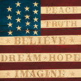Inspired Colonial Flag Affiches par Warren Kimble