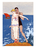 The Small Island, France, Early 20th Century Giclee Print by Georges Barbier