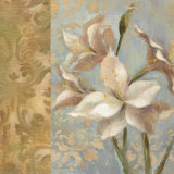 Amaryllis on Soft Blue Posters by Silvia Vassileva