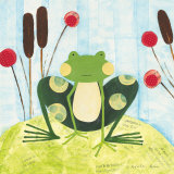 The Pretty Green Frog Prints by Nicole Bohn
