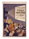 Edison's Life-Size Animated Pictures, England, 1901 Giclee Print by Albert Morrow