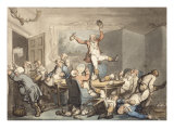 The Hunt Supper, England, 18th-19th Century Giclee Print by Thomas Rowlandson