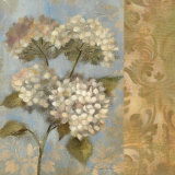 Hydrangea on Soft Blue Prints by Silvia Vassileva