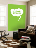 Think Green Wall Mural