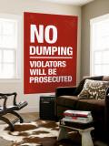No Dumping Wall Mural