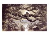 Asleep in the Moonlight, London, England, 1870 Lámina giclée por Richard Doyle