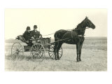 Two Men in Buggy on Prairie Prints