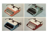 Four Portable Typewriters Prints