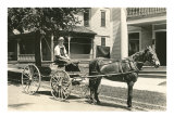 Horse-Drawn Cart on Elm Street Print