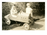 Children with Toy Car Prints