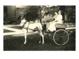 Two Women in Pony Cart Prints