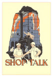Art Deco Shop Talk Poster