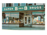 Store Front Drug Store Print