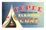 Tepee Elkhorn Coal Posters
